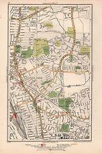 1933 LONDON MAP-BOWES,WOOD GREEN,NOEL PARK,WEST GREEN,TURNPIKE LANE,HORNSEY STAT