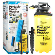 Portable Pressure Power Washer Pump 10L Spray Jet Car Wash Lance Cleaner Brush