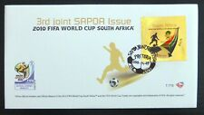 SOUTH AFRICA 2010 World Cup Football Gold on Official FDC NQ606