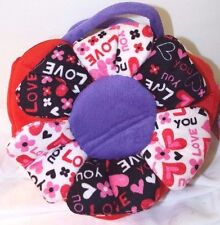 """NEW Plush Purse Floral LOVE YOU Red Heart W/ Big Heart Inside Suger Loaf 10""""x10"""""""