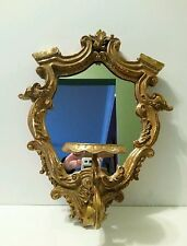 French Rococo Style Mirror Candle Holder Wall Sconce