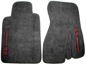 1993-2002 Camaro SS Front Carpet Floor Mats Pair Left & Right Ebony Black *10446