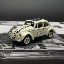 New 1/64 SCHUCO Volkswagen VW BEETLE car model white with sunroof and 53 livery