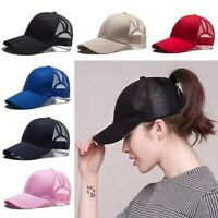 SummerBaseball Cap for Women Mesh Visor Womens Girls Hat Ponytail Hat Adjustable