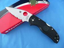 Spyderco C41SBK5 Native 5 Knife Black FRN Handle S35VN Serrated Edge
