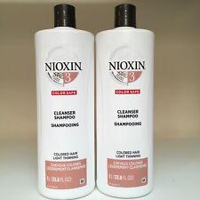 Nioxin System 3 Cleanser (Shampoo) - SET OF 2 - 33.8 oz - NEW!!!