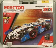 ERECTOR by MECCANO CHAMPIONSHIP RACE CAR 27 In 1 Steam Building Kit 19205
