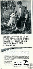 1967 High Standard Supermatic 20 Gauge Autoloader Shotgun Gun Print Ad