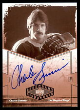 2004-05 UD LEGENDARY SIGNATURES CHARLIE SIMMER AUTO SIGNED NM L A KINGS HOCKEY