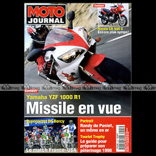 MOTO JOURNAL N°1301 YAMAHA R1 HONDA CB 500 S BENELLI 750 SEI RANDY DE PUNIET '97
