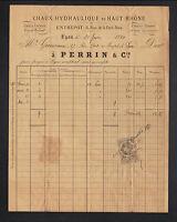 "LYON (69) CHAUX Lourde & CIMENT PORTLAND ""PERRIN & Cie"" en 1881"