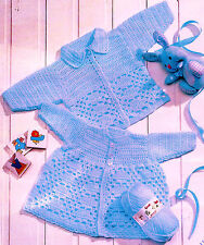 BABY PREMATURE DOLL CROCHET COAT CARDIGAN PATTERN 12 TO 22 INCH BY EMAIL (221))