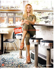 Uma Thurman 1-pg clipping 2017 ad for FitFlop - sitting