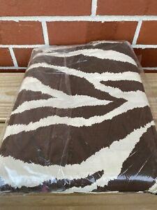The Company Store Twin Comforter Cover Brown Animal Print Percale NEW From 2008