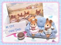 ❤️Wee Forest Folk M-134 First Date Valentine Blue Couch Sofa Retired WFF Mice❤️