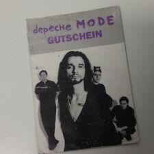 DEPECHE MODE Gutschein 1993. Devotional Tour, Vienna, Austria, RARE
