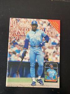 BO JACKSON BECKETT BASEBALL CARD MONTHLY August 1987