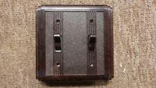 art deco double bakelite light switch,classic electric,brown,62B