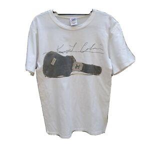 Kurt Cobain T-Shirt Size S Mens Short Sleeve Cotton Guitar Graphic HAS A MARK