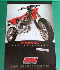 HONDA HM 450 MOTARD 250 125 MOTO ENDURO PUBBLICITA DEPLIANT BROCHURE CATALOG