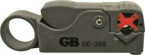 GB SE-398 Coaxial Cutter and Stripper, Coaxial Cable Wire, Black Handle