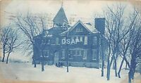 <A3> INDIANA In Real Photo RPPC Postcard 1908 SPENCER School Building