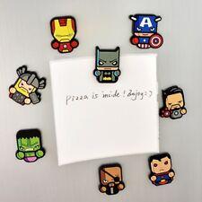 US STOCK Fridge Magnet  PVC Cute  Super Hero Kitchen Magnetic Sticker  8pcs/sets