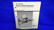 Hp 10316G Motorola 68030 Preprocessor Operating Manual