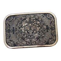 Azteca Sun Calendar Pattern Vintage Western Cowboy Men's Belt Buckle