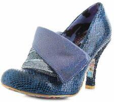 Irregular Choice Flick Flack Azul Multi Para Mujer Tacones Zapatos Puntera Cerrada