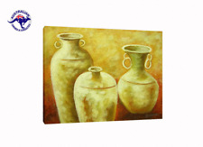 'Three Yellow Jars' Oil Painting - CLEARANCE SALE - $ 1 Auction Bargain