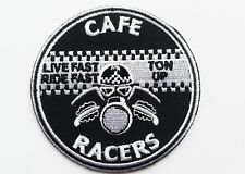 Aufnäher Aufbügler Patch Cafe Racer Caferacer Triumph BSA AJS NORTON rund 7 cm