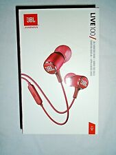 "JBL LIVE 100  Headphones Red - JBL Signature Sound - Hands-Free Calling ""NEW"""