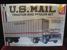 RARE Sealed 1979 VTG US MAIL Tractor Truck & Trailer Set Model/Kit AMT USA #T549