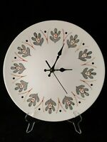 Mid Century Oak Leaf Wall Clock