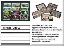 1000 LOOK DIN C6 Einsteckkarten Steckkarten Klemmkarten 4 Streifen + Deckfolie
