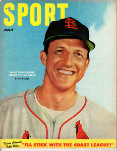 JULY 1952 SPORT MAGAZINE STAN MUSIAL ST. LOUIS CARDINALS TED WILLIAMS