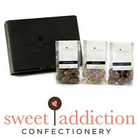 Sweet Addiction Premium Matt Black Gift Hamper Box - Fun Chocolates