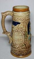 "Vintage Ceramic  Japan 9.5"" German Pottery Beer Stein Mug"