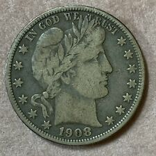 1908-o Barber Half Dollar Silver New Orleans Mint E1135