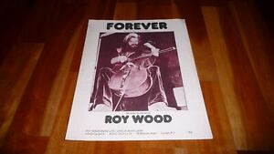 ROY WOOD FOREVER ORIGINAL 1973 SHEET MUSIC THE MOVE ELO WIZZARD