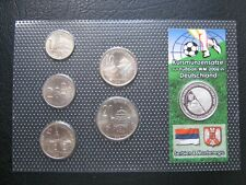 More details for serbia & montenegro 2003 coin set + silver medal '06 football world cup ~ coa