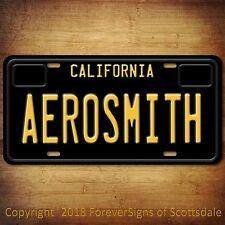 Aerosmith American Rock Band California Aluminum Vanity License Plate Black