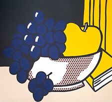 Roy Lichtenstein, A Still life with Grapes 1974, Hand Signed Lithograph A.P.