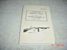 Thompson Submachine Gun Technical Manual 1942