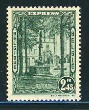 Belgium MNH: Scott #E5 2.45DFr Dark Green EXPRESS EUPEN CV$50+