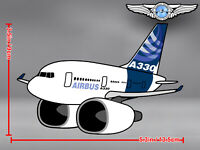 AIRBUS A330 A 330 PUDGY CUT TO SHAPE DECAL / STICKER