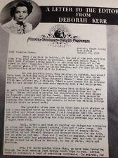 59101 1950 Article Actor Film Star Deborah Kerr King Solomon's Mines Writes