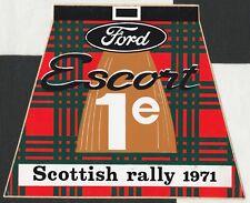 FORD ESCORT RS 1600 MK1 SCOTTISH RALLY 1971 VICTORY 1st ORIGINAL PERIOD STICKER