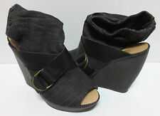 WE WHO SEE, Canvas Lined Open Toe Strappy Shoes 6 M MINT CONDITION